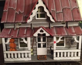 Halloween Dollhouse, Hand Painted/Constructed