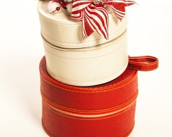 Christmas Candy Cane Mini Top Hat w/Embellishments...Peppermint Red and White Headpiece, Fascinator . . .  CANDY CANE CRUSH