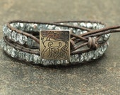 Celtic Horse Jewelry Silver Gray Ice Blue Celtic Horse Bracelet