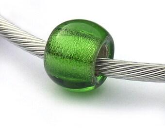 August Birthstone European Beads Glass Peridot