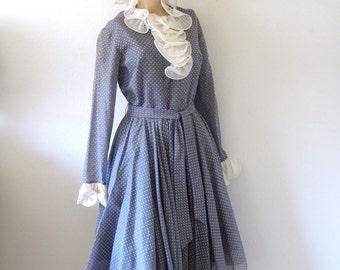 1960s Mod Party Dress - vintage polka dot shirtwaist