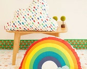 Cotton Fabric Cloth -DIY Cloth Art Manual Cloth - Baby Cotton Fabric Cloth  Rainbow After Rain 59 x20Inches