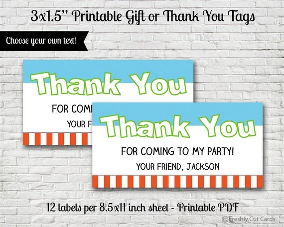 Everybody Jump Gift or Thank You Tags