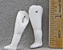 One Pair Vintage  Antique Excavated German Doll Legs Victorian Doll Legs 1.25 Inch