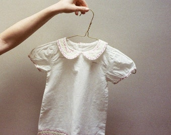 Cotton embroidered BABY dress peter pan collar
