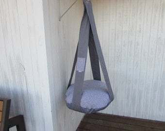 Grey on Grey Single Kitty Cloud Hanging Cat Bed