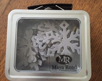 Maya Road Chipboard Snowflakes, Maya Road, Snowflake Chipboard, Snowflakes, Craft Snowflakes, Maya Road Chipboard,