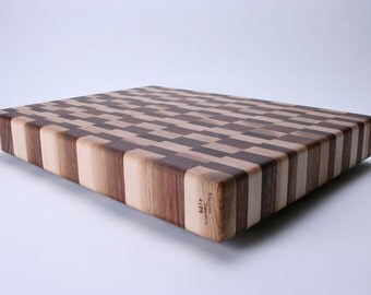 Walnut and Maple End Grain Wooden Cutting Board #174