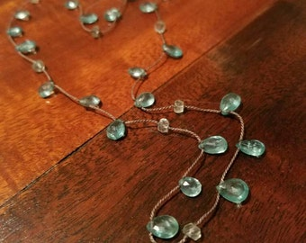 Delicate Apatite and Aquamarine Choker