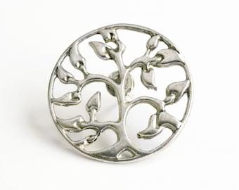 Tree of Life Pin, Tree Lapel Pin, Silver tie Tack