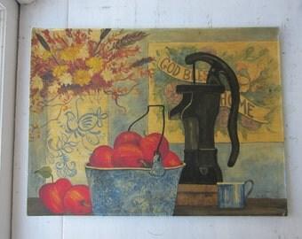 Vintage Folk Painting - Still Life - Signed - 1979 - 18 x 24