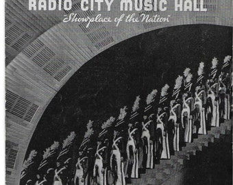 Vintage 1930's NYC - Radio City Music Hall Program