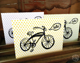 hello! Bicycle card (blank inside)