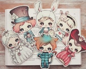 Alice in Wonderland - set of bookmarks
