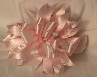 Soft Pink Satin Funky Loop Bow