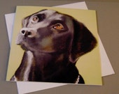 Jasmine the Dog art card ...