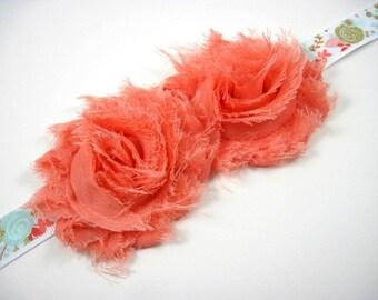 Sash - maternity sash - bridal sash - coral sash - floral sash - wedding - belts and sashes