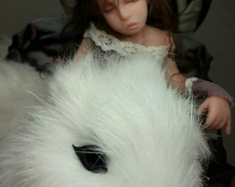 MidDreamers Ooak Childfairy Adalee and the white squirrel