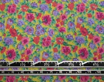 Destash Fabric, cotton fabric, floral pattern