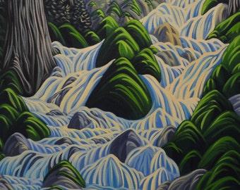 Thirsty Cedar, 5X7, art print, canadian artist, ready to frame