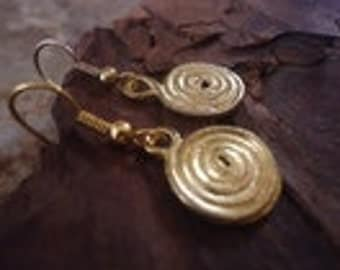 GOLD SPIRAL earrings (1181)