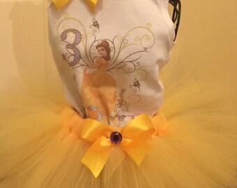 Princess Belle Inspired Tutu Set for little Girls- Great for Birthdays.