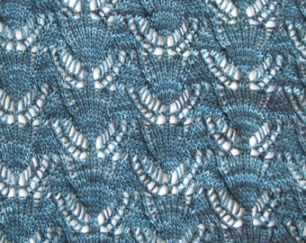 Knit Shawl Pattern:  Samphrey Lace Shawl Knitting Pattern