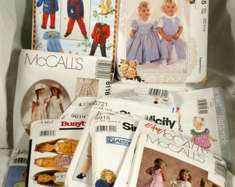 Lot of 16 mostly girls patterns Butterick, McCall's, simplicity and others