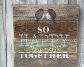 Rustic sign, word art, barn wood, birds, wedding gift, one of a kind