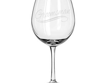 Oversized Red Wine Glass-18 oz.-6695 Groomsman