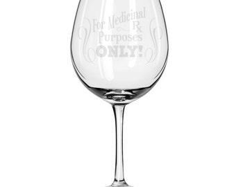 Oversized Red Wine Glass-18 oz.-6705 Medicinal Rx Purposes Only