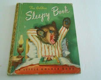 Little Golden Book Sleepy Book 1948 G