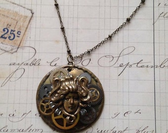 Victorian Lady Steampunk Necklace