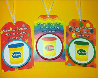 PLAY DOUGH Birthday Party Favor Gift Tags