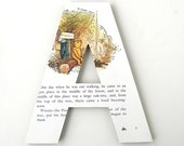 Winnie the Pooh Custom Letters - Children's Used Book Pages - Nursery Alphabet Décor - Storybook Name Art - Cat in the Hat Baby Shower Gift