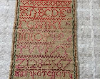1771 needlework sampler