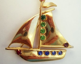 Coro Sailboat brooch Coro Figural