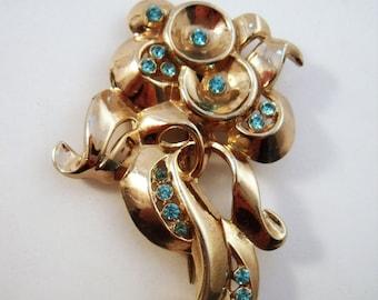 Vintage modernistic stylized 30's or 40's flower brooch