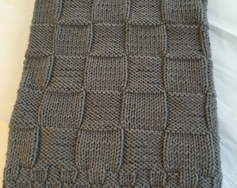 Hand knitted baby blanket, in a variety of colors. Knit, Crochet