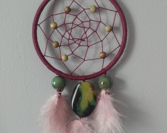 Deep Red and Olive Green Dream Catcher