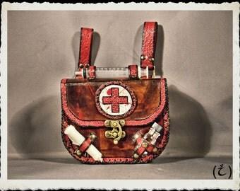 Leather pouch / bag - Doctor / Nurse -
