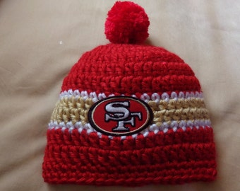 San Francisco Baby hat for Newborn to 18 months- 49's team colors
