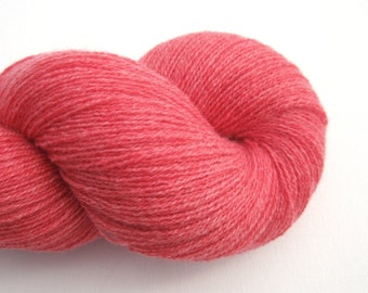 Lace Weight Recycled Cashmere Yarn, Coral Pink, 430 Yards, Lot 081015