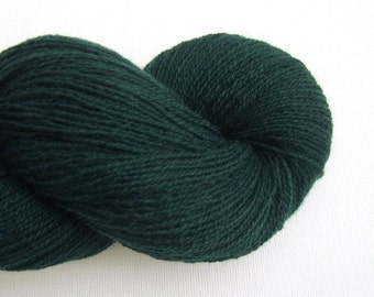 Lace Weight Recycled Cashmere Yarn, Deep Pine Green, 810 Yards, Lot 040116