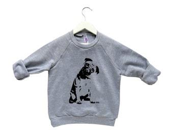 Pug Kids Sweatershirt, Toddler Boy Sweatshirt, Toddler Girl Sweater, Pug Shirt, Kids Sweater With Pug, Pugs Not Drugs, Custom Kids Clothes