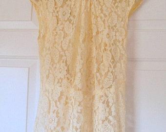 Vintage 1930's lace Wedding dress Lace jacket belt Hat