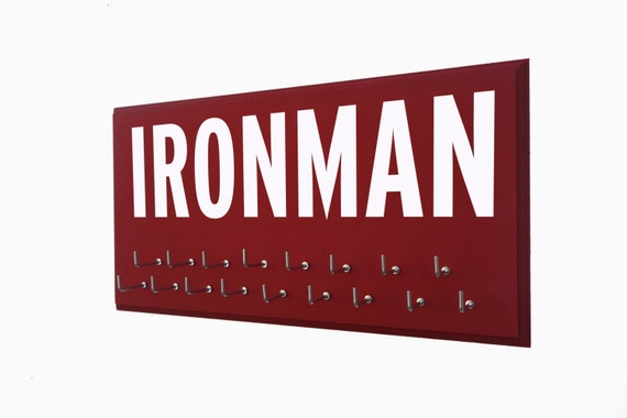 IRONMAN medals holder, Ironman athlete, Ironman gifts, Gift for ironman athlete, Ironman medals, Ironman medal hanger, medal display