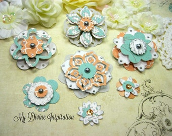 Teresa Collins Tell Your Story Handmade Paper Flowers, Paper Embellishments for Scrapbook Layouts Cards Mini Albums Tags and  Paper Crafts