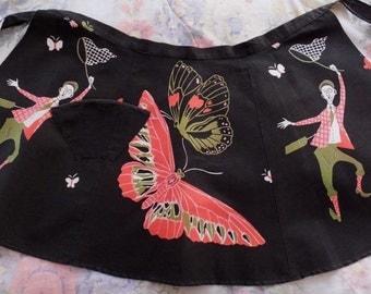 Vintage Butterfly Butterflies Catcher Net Circle Skirt Garden Party Apron
