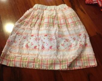 "Boutique Girls Long Floral Skirt SAMPLE SALE Size 5/6/7 18"" long"
